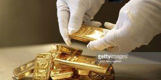Giá vàng thế giới rơi xuống 'đáy' trong hơn một tuần